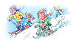 Игры на свежем воздухе, конечно, полезнее, чем дома.  А зимой на улице малыш будет играть и двигаться очень активно...