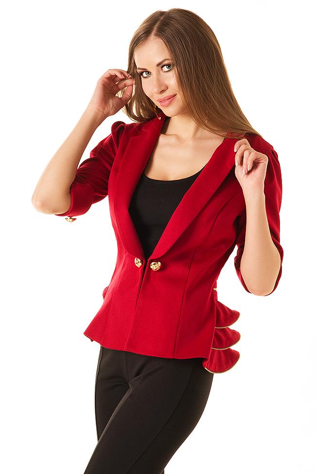 Красный пиджак фото 8