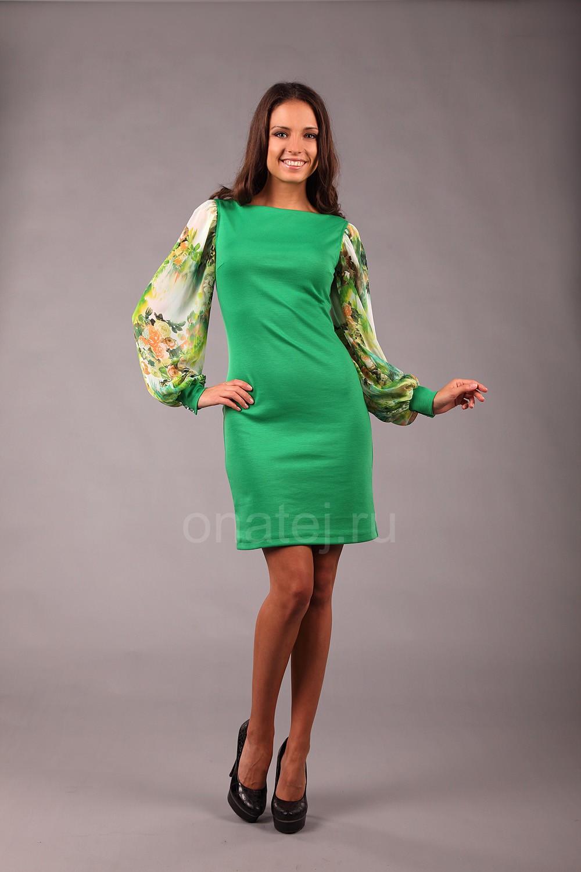 528475c1dea057c Длинное платье с рукавами фонариками